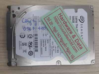 Cứu dữ liệu ổ cứng Seagte 500GB Chết cơ