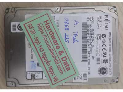 Cứu dữ liệu ổ cứng fujitsu 100GB lỗi đầu từ