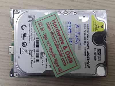 Cứu dữ liệu western 750GB chết cơ