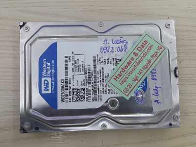 Cứu dữ liệu Western 250GB hỏng đầu từ