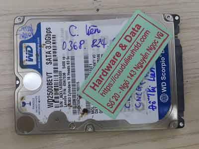 Khôi phục dữ liệu ổ cứng western 250GB chết cơ