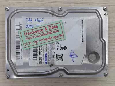 Lấy lại dữ liệu ổ cứng Samsung 160GB mất dữ liệu