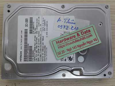 khôi phục dữ liệu ổ cứng Hitachi 160GB hỏng đầu đọc