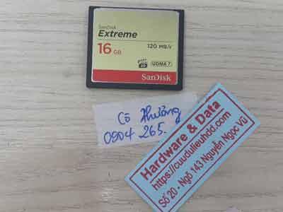 Phục hồi dữ liệu thẻ nhớ 16GB mất dữ liệu