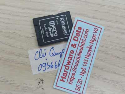 Lấy dữ liệu thẻ nhớ 8GB mất dữ liệu
