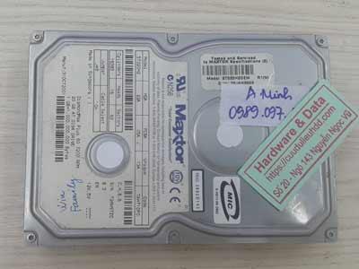 Lấy lại dữ liệu ổ cứng maxtor 40GB bad nhẹ