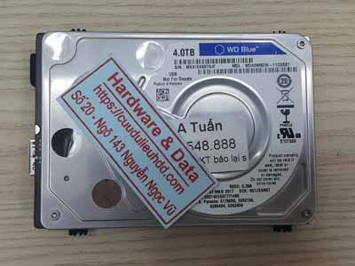 khôi phục dữ liệu ổ cứng Western 4TB chết cơ