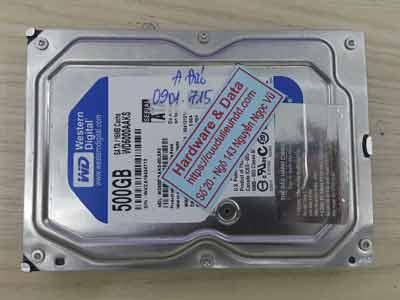 Phục hồi dữ liệu ổ cứng Western 500GB chết cơ