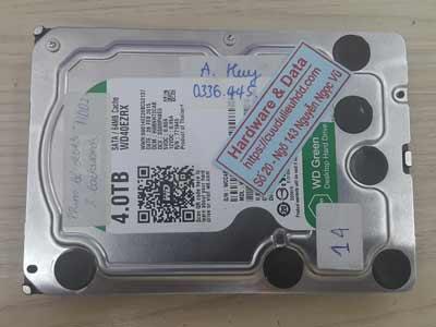 Lấy lại dữ liệu ổ cứng Western 4TB đầu từ lỗi