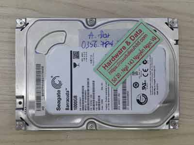 Phục hồi dữ liệu ổ cứng Seagate 1TB chết cơ