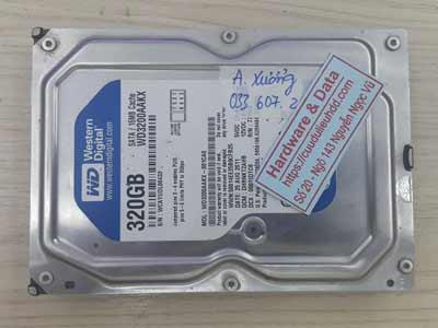 Cứu dữ liệu ổ cứng Western 320GB đầu từ lỗi