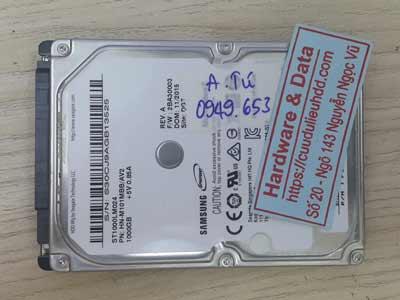 Cứu dữ liệu ổ cứng Samsung 1TB lỗi đầu từ