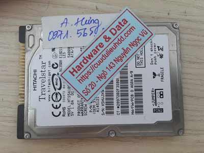 Khôi phục dữ liệu ổ cứng Hitachi 40GB chết cơ