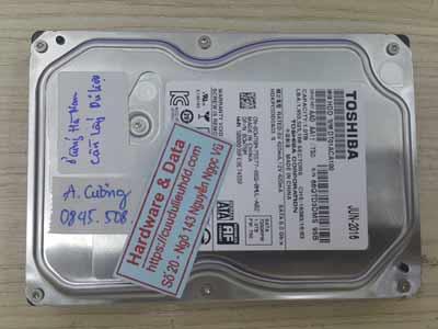 Lấy lại dữ liệu ổ cưng Toshiba 1TB hỏng đầu từ