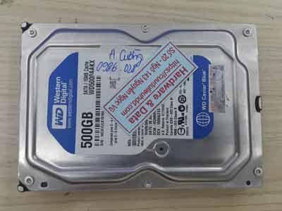 Cứu dữ liệu Western 500GB hỏng đầu từ
