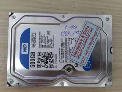 Cứu dữ liệu ổ cứng Western 500GB bad nặng