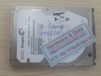 phục hồi dữ liệu ổ cứng Seagate 750GB đầu từ lỗi