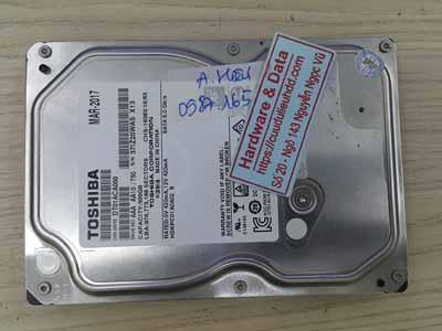 Lấy dữ liệu ổ cứng Tosshiba 500GB mất dữ liệu
