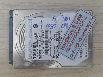 Cứu dữ liệu ổ cứng Toshiba 640GB đầu từ hỏng