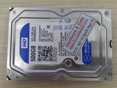 Cứu dữ liệu ổ cứng Western 500GB chết cơ
