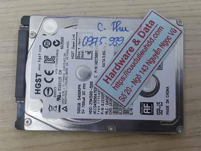 Cứu dữ liệu ổ cứng Hitachi 500GB chết cơ