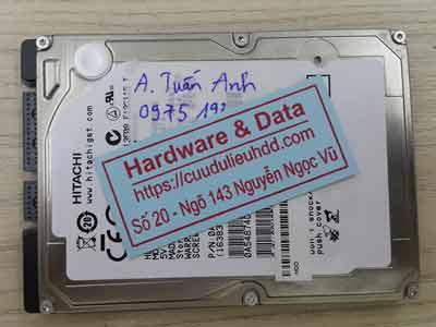 Khôi phục dữ liệu ổ cứng Hitachi 160GB bị lỗi cơ