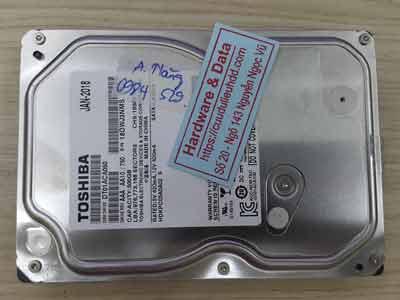 phục hồi dữ liệu Toshiba 500GB format nhầm