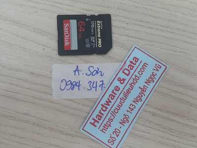Khôi phục dư liệu The Sandisk 64GB mất dữ liệu