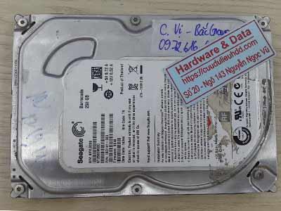 Lấy lại dữ liệu ổ cứng Seagate 250GB đầu từ lỗi