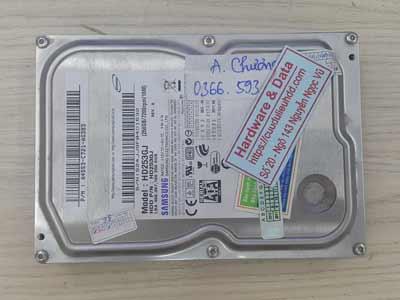 Khôi phục dữ liệu ổ cứng Samsung 250GB đầu từ lỗi
