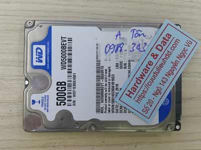 lấy lại dữ liệu ổ cứng Western 500GB đầu từ lỗi