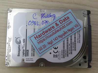 khôi phục dữ liệu ổ cứng Seagate 500GB đầu từ hỏng