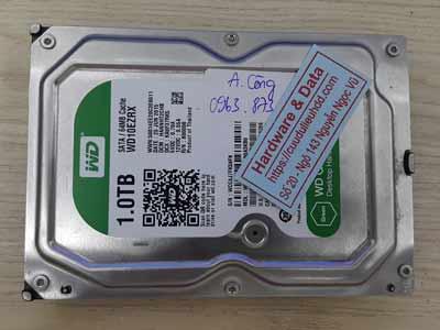 Lấy lại dữ liệu ổ cứng Western 1TB chết cơ