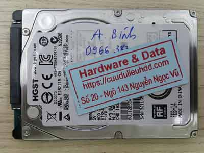 phục hồi dữ liệu Hitachi 500GB đầu đọc lỗi