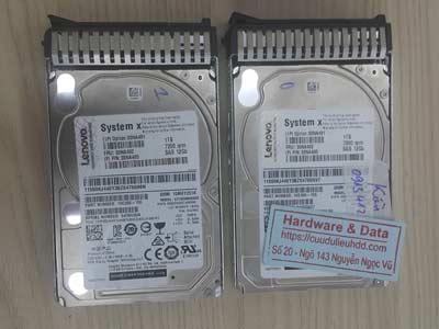 Cứu dữ liệu máy chủ Sas 1TB Raid1