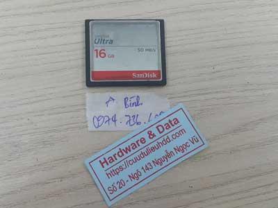 Cứu dữ liệu thẻ nhớ 16GB mất dữ liệu