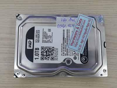 Cứu dữ liệu ổ cứng Western 1TB Virus mã hóa