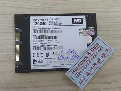 Cứu dữ liệu ổ cứng Western 120GB mất dữ liệu