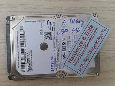 Cứu dữ liệu ổ cứng Samsung 640GB đầu từ lỗi