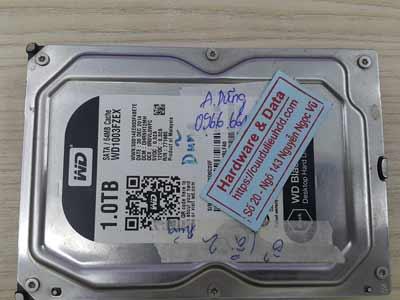 lấy lại dữ liệu ổ cứng Western 1TB mất định dạng