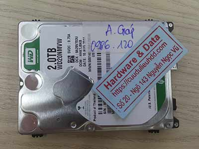 phục hồi dữ liệu ổ cứng Western 2TB hỏng đầu từ