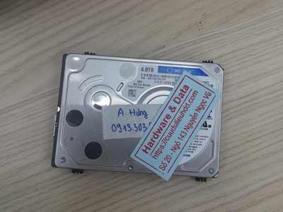 phục hồi dữ liệu ổ cứng Western 4TB hỏng đầu từ