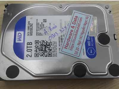 khôi phục dữ liệu ổ cứng Western 2TB hỏng đầu đọc