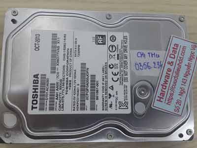 khôi phục dữ liệu ổ cứng Toshiba 500GB mất dữ liệu