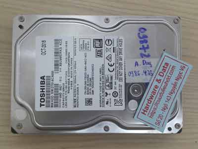 Lấy lại dữ liệu Toshiba 1TB chết cơ