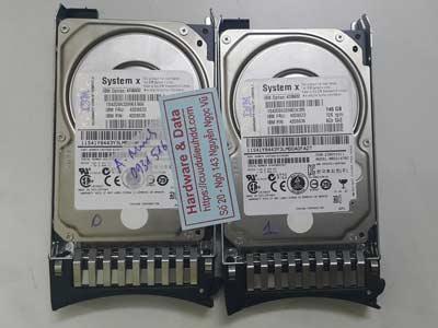 Khôi phục dữ liệu máy chủ Raid1 SAS 146GB lỗi ổ cứng