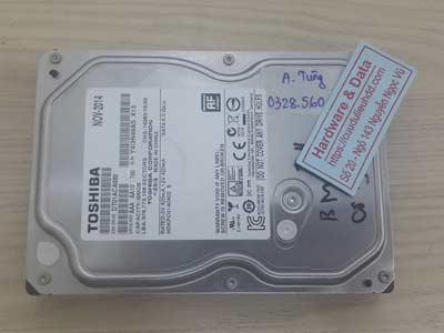 khôi phục dữ liệu ổ cứng Toshiba 500GB chết cơ