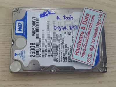 khôi phục dữ liệu ổ cứng Western 250GB đầu từ lỗi