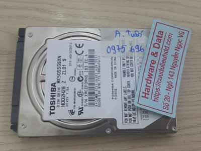 Cứu dữ liệu ổ cứng Toshiba 500GB bad nặng