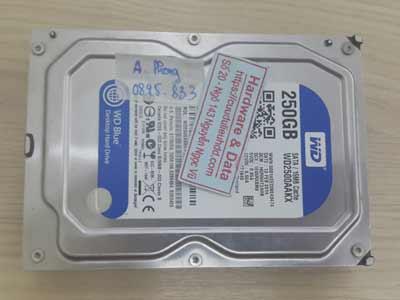 khôi phục hồi dữ liệu ổ cứng Western 250GB mất dữ liệu